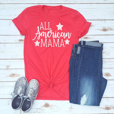 All American Mama 4th of July Unisex Jersey Tee - Tierra Bella