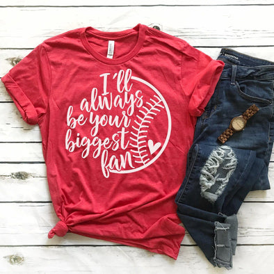 I'll Always Be Your Biggest Fan Baseball Mom Unisex Jersey Tee - Tierra Bella