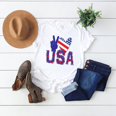 Peace Love USA 4th Of July Unisex Jersey Tee - Tierra Bella