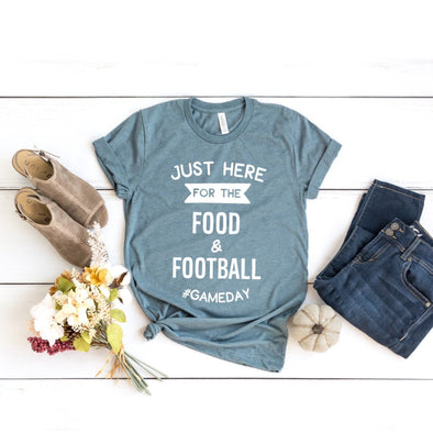 Just Here For The Food And Football Unisex Jersey Tee - Tierra Bella