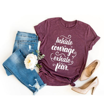 Inhale Courage Exhale Fear Unisex Jersey Tee - Tierra Bella
