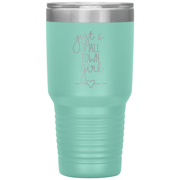 Just a Small Town Girl 30oz Tumbler Teal - Tierra Bella