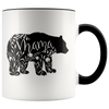 Floral Mama Bear Accent Mug Black - Tierra Bella