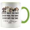 I'll Be Watching You Dog Mom Accent Mug Green - Tierra Bella