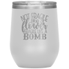 Not Fragile Like a Flower Fragile Like a Bomb Stemless Wine Tumbler White - Tierra Bella