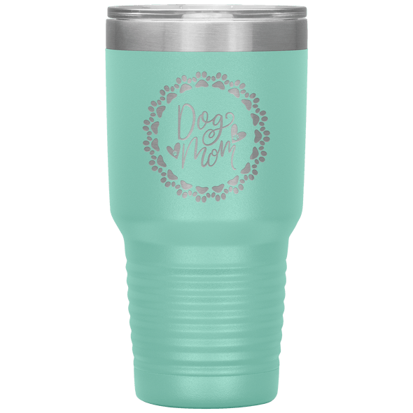 Dog Mom Wreath 30oz Tumbler Teal - Tierra Bella