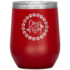Dog Mom Wreath Stemless Wine Tumbler Red - Tierra Bella