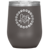 Dog Mom Wreath Stemless Wine Tumbler Pewter - Tierra Bella