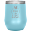 Rise and Shine Mother Cluckers Stemless Wine Tumbler Light Blue - Tierra Bella