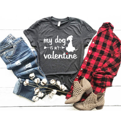 My Dog Is My Valentine Unisex Jersey Tee - Tierra Bella