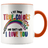 I See Your True Colors Autism Awareness Accent Mug Orange - Tierra Bella