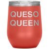 Queso Queen Stemless Wine Tumbler Coral - Tierra Bella
