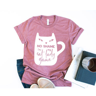 No Shame In My Cat Lady Game Unisex Jersey Tee - Tierra Bella