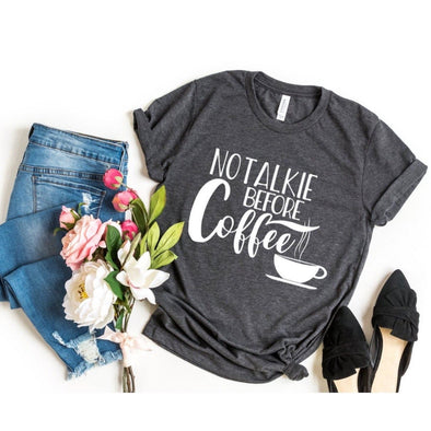 No Talkie Before Coffee Unisex Jersey Tee - Tierra Bella