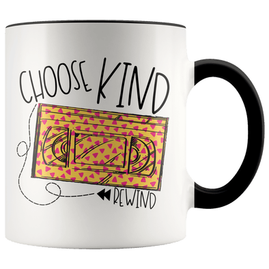 Choose Kind Rewind 90s Accent Mug Black - Tierra Bella