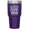 Not Fragile Like a Flower Fragile Like a Bomb 30oz Laser Etched Tumbler Purple - Tierra Bella