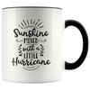 Sunshine Mixed With a Little Hurricane Accent Mug Black - Tierra Bella