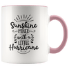Sunshine Mixed With a Little Hurricane Accent Mug Pink - Tierra Bella