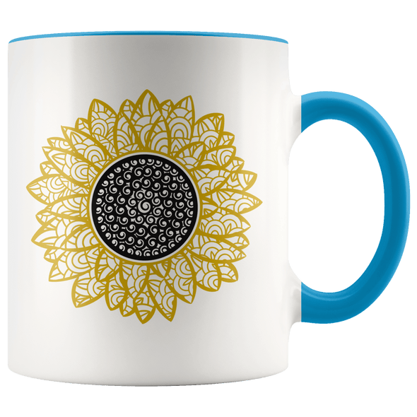 Sunflower Accent Mug Blue - Tierra Bella