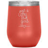 Just a Small Town Girl Stemless Wine Tumbler Coral - Tierra Bella