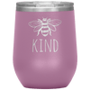 Bee Kind Stemless Wine Tumbler Light Purple - Tierra Bella
