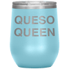 Queso Queen Stemless Wine Tumbler Light Blue - Tierra Bella