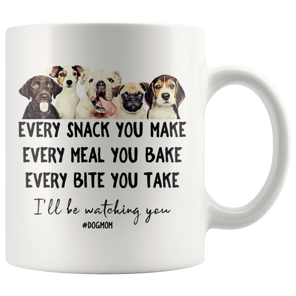 I'll Be Watching You Dog Mom Accent Mug White - Tierra Bella