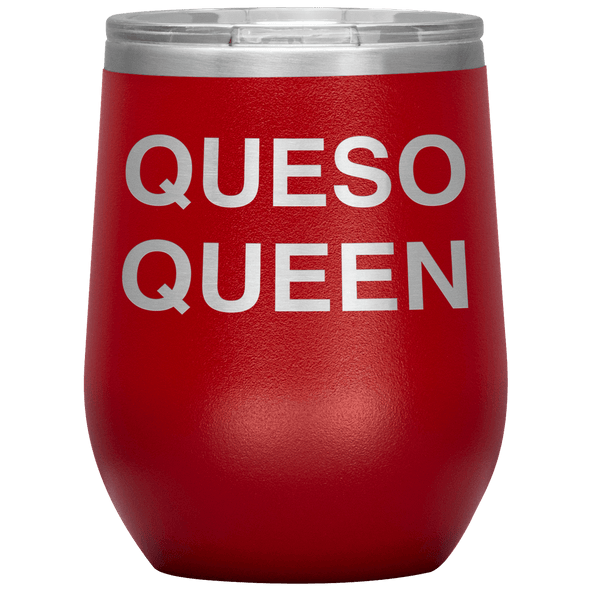 Queso Queen Stemless Wine Tumbler Red - Tierra Bella