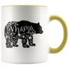 Floral Mama Bear Accent Mug Yellow - Tierra Bella