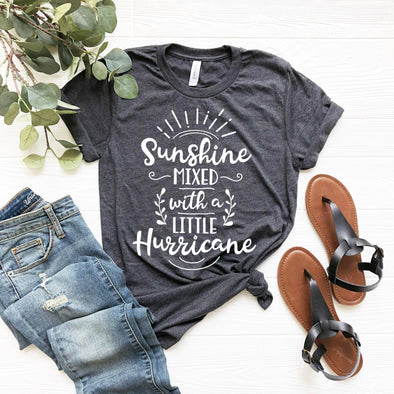 Sunshine Mixed With a Little Hurricane Unisex Jersey Tee - Tierra Bella