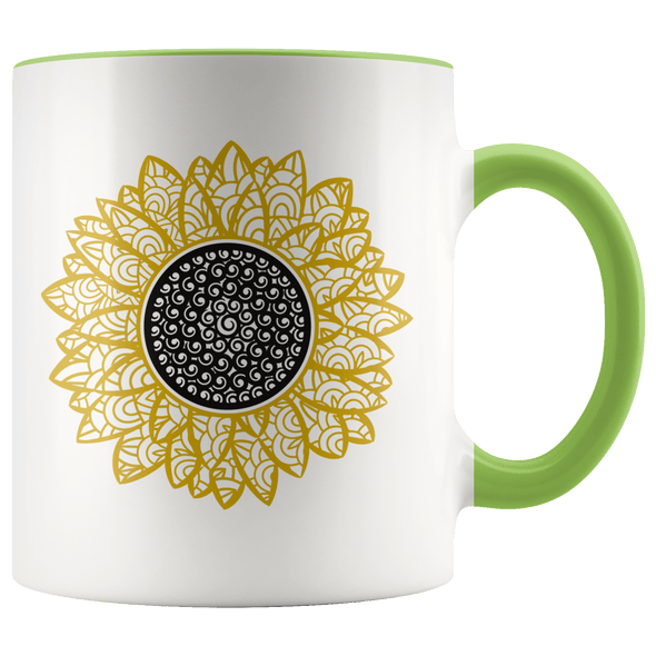 Sunflower Accent Mug Green - Tierra Bella