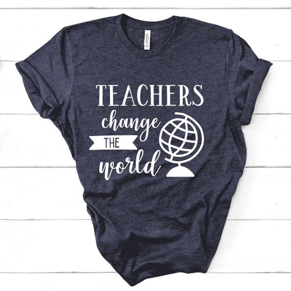 Teachers Change The World Unisex Jersey Tee - Tierra Bella