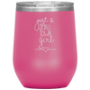 Just a Small Town Girl Stemless Wine Tumbler Pink - Tierra Bella