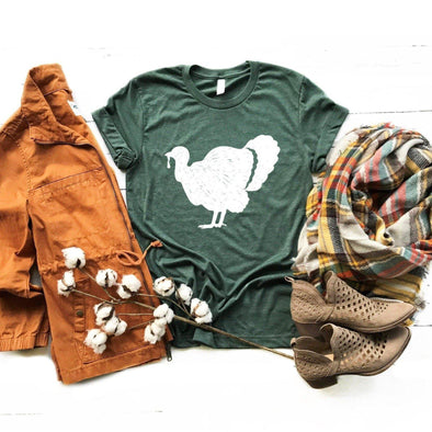 Thanksgiving Turkey Unisex Jersey Tee - Tierra Bella