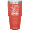 Not Fragile Like a Flower Fragile Like a Bomb 30oz Laser Etched Tumbler Coral - Tierra Bella