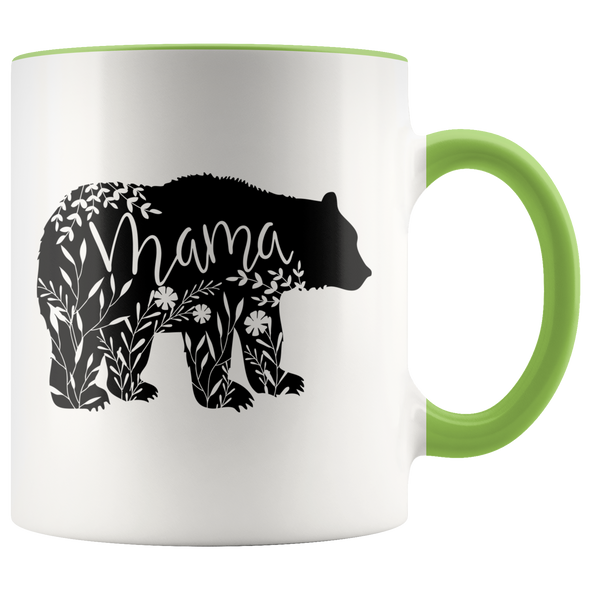 Floral Mama Bear Accent Mug Green - Tierra Bella