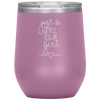 Just a Small Town Girl Stemless Wine Tumbler Light Purple - Tierra Bella