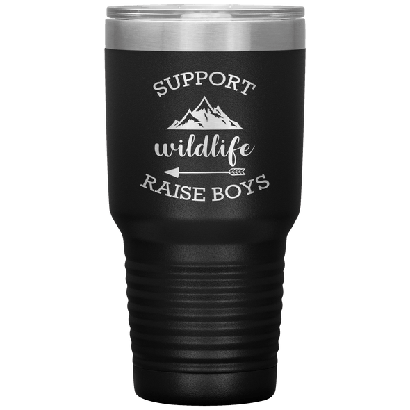 Support Wildlife Raise Boys 30oz Tumbler Black - Tierra Bella