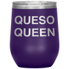 Queso Queen Stemless Wine Tumbler Purple - Tierra Bella
