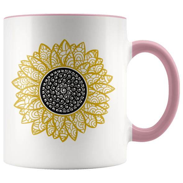 Sunflower Accent Mug Pink - Tierra Bella
