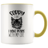 Sorry I Can't I Have Plans With My Cat Accent Mug Yellow - Tierra Bella
