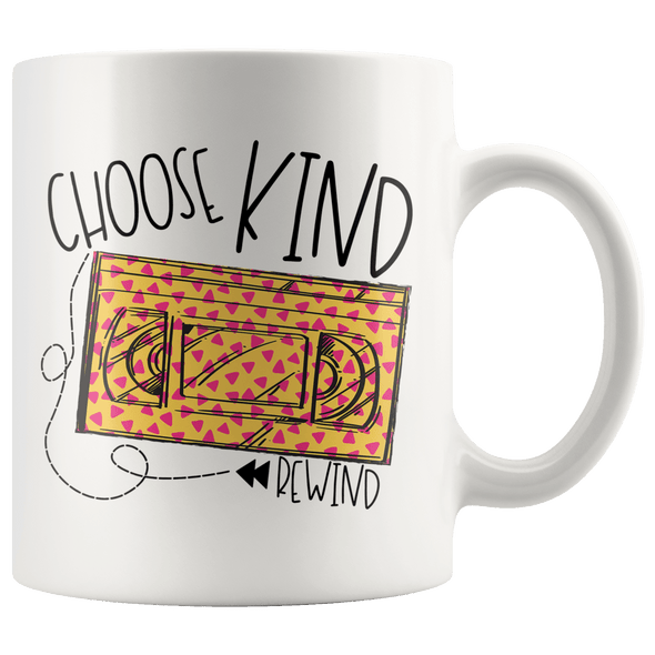 Choose Kind Rewind 90s Accent Mug White - Tierra Bella