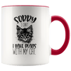 Sorry I Can't I Have Plans With My Cat Accent Mug Red - Tierra Bella