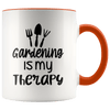 Gardening Is My Therapy Accent Mug Orange - Tierra Bella