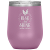 Rise and Shine Mother Cluckers Stemless Wine Tumbler Light Purple - Tierra Bella