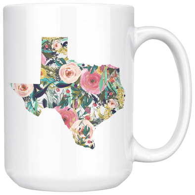 Floral Texas 15oz Mug White - Tierra Bella