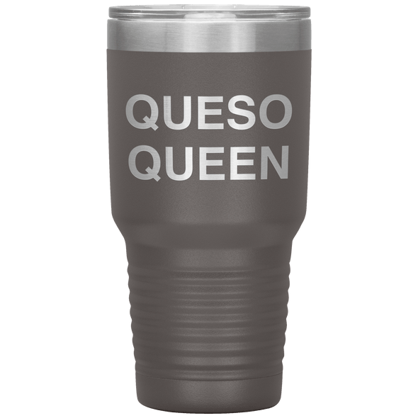 Queso Queen 30oz Tumbler Pewter - Tierra Bella