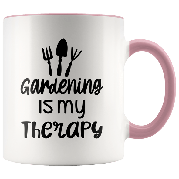 Gardening Is My Therapy Accent Mug Pink - Tierra Bella