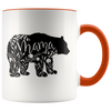 Floral Mama Bear Accent Mug Orange - Tierra Bella