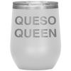 Queso Queen Stemless Wine Tumbler White - Tierra Bella